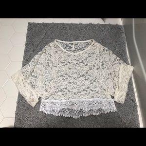 Sheer Lace Crop Top :)